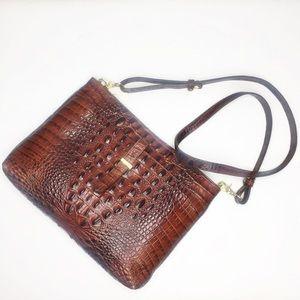 Brahmin Pecan Top Zip Crossbody Bag